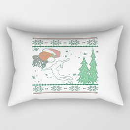 Basketball Christmas Rectangular Pillow