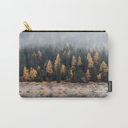 Misty Autumn Forest Carry-All Pouch