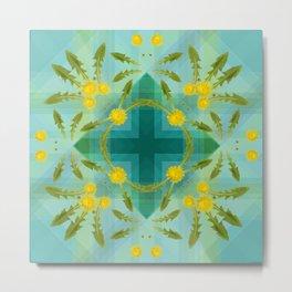 Dandelions in the sky Metal Print