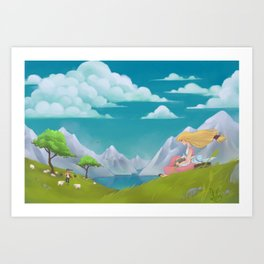Peaceful Countryside Art Print