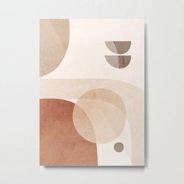 Abstract Minimal Shapes 16 Metal Print