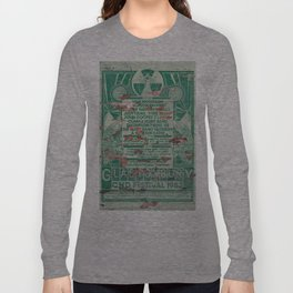 Distressed Glastonbury 1982 Poster Long Sleeve T-shirt