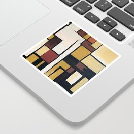 Composition with squares and rectangles Sticker