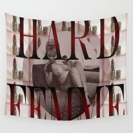 Hard Femme - Pin Up Girl Wall Tapestry