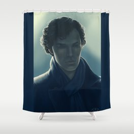 You look sad when you think he can't see you Shower Curtain