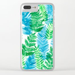 Fern watercolor Clear iPhone Case