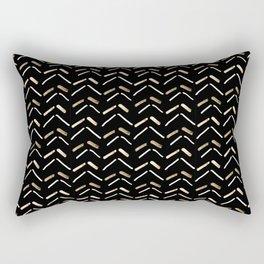 Wild Abstract Chevron Small Arrow Accent Art Print Rectangular Pillow
