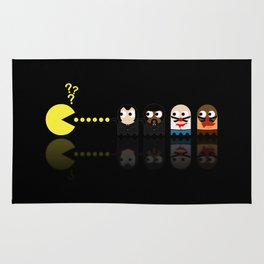 Pacman with Pulp Fiction Ghosts Rug