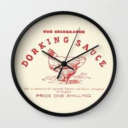Dorking Sauce Wall Clock