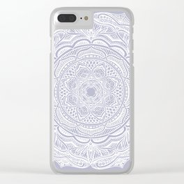 Dedication to Lucy (purple) Clear iPhone Case