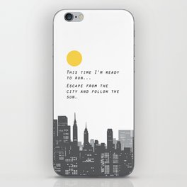 Escape from the City... iPhone Skin