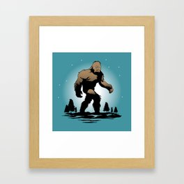 Bigfoot Silhouette Illustration. Framed Art Print