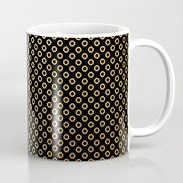 Black and gold dots design Coffee Mug