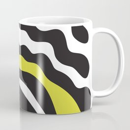 Abstract Artwork Graphic Black and Yellow Coffee Mug