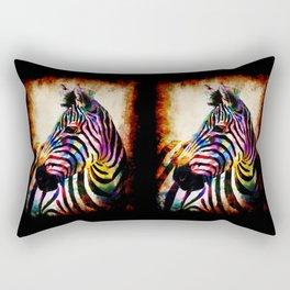 Zebra in Color Rectangular Pillow