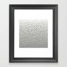 White hexagons Framed Art Print
