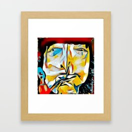 """The philosopher Jacquard """"The Pipe"""" Rousseau was in deep existential contemplation Framed Art Print"""