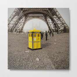 The Yellow Booth at Eiffel Tour! Metal Print