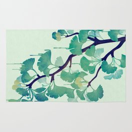 O Ginkgo (in Green) Rug