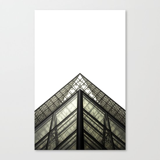 Abstract Louvre Canvas Print