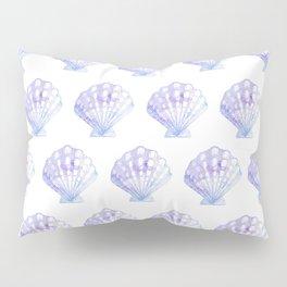 Mermaid Off Duty - Purple & Blue Seashell Pillow Sham