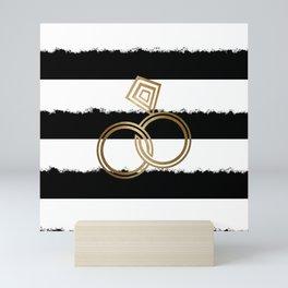 Gold Wedding Rings Mini Art Print