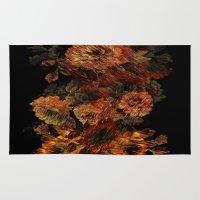 flower pattern Area & Throw Rugs featuring Flower Pattern by Eduardo Doreni