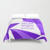 let it go Duvet Covers featuring Let Go by Roderick Moise