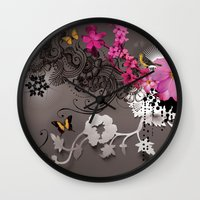 romantic Wall Clocks featuring Romantic by Million Dollar Design