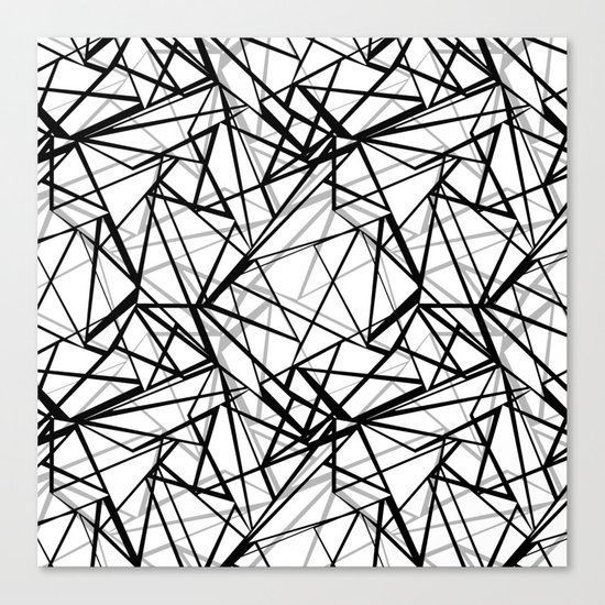 Black and white abstract geometric pattern . Canvas Print