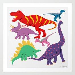Dinosaur Domination - Light Art Print