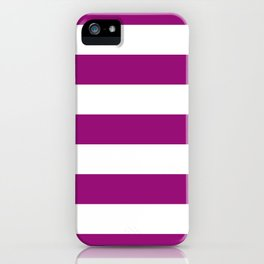Fuchsia Stripes iPhone Case