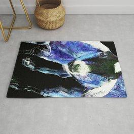 Goat Pop Art - Blue - Sharon Cummings Rug