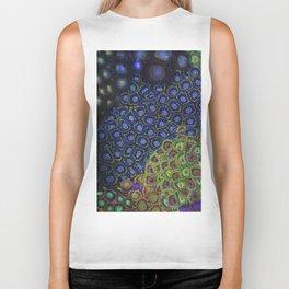 """Macro of Coral Zoanthus """"Blue Hornet"""" Biker Tank"""