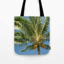Hawaiian Coconut Palm Tree Tote Bag