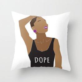 Dope Bawse Throw Pillow
