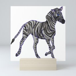 The Purple Zebra Mini Art Print