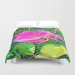 Pink Flower of Graceful Beauty Duvet Cover