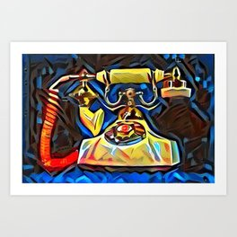Calling Kandinsky Art Print