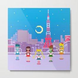 .:Tiny pixel series:. Sailor Moon Metal Print