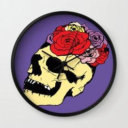 skull and rose fiesta Wall Clock