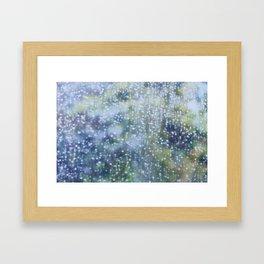 Soft Summer Rain Framed Art Print