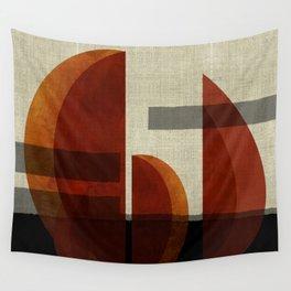 """Abstract Ships at Sunset"" Wall Tapestry"