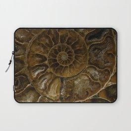Earth treasures - brown amonite Laptop Sleeve