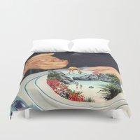 eugenia loli Duvet Covers featuring Bermuda a'la Soup by Eugenia Loli
