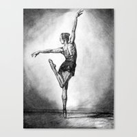 ballerina Canvas Prints featuring Ballerina by Megan
