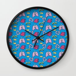 Organ Donor |all over pattern| by Wendy Gilbert Wall Clock