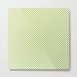 Lime Polka Dots Metal Print