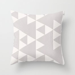 Triangles and Lines Throw Pillow