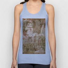 Vintage & Shabby Chic - Victorian ladies pattern Unisex Tank Top